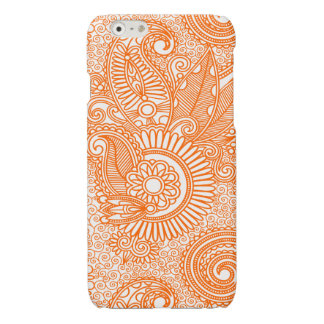 Orange & White Ornate Vintage Floral Paisley