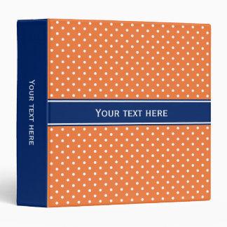 Orange, White Polka Dot with Royal Blue Binder