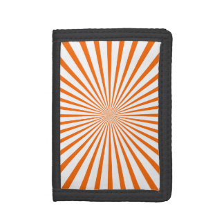 Orange & White Radiant Stripes Tri-fold Wallet