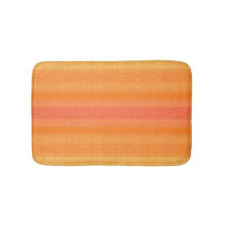 orange white reason abstracts smart modern elegant bath mat