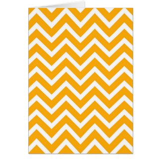 orange white zig zag pattern design card