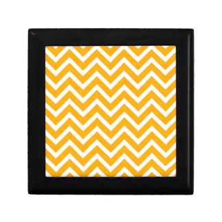 orange white zig zag pattern design gift box