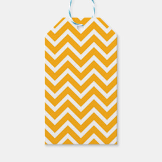 orange white zig zag pattern design gift tags