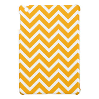 orange white zig zag pattern design iPad mini cases