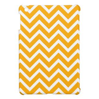 orange white zig zag pattern design iPad mini cover