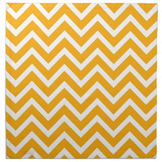 orange white zig zag pattern design napkin