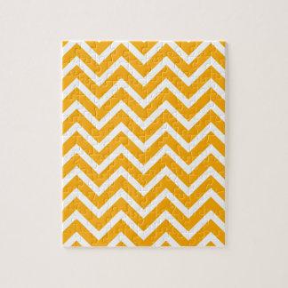 orange white zig zag pattern design puzzle