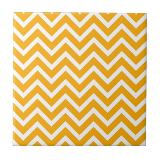 orange white zig zag pattern design tile