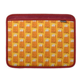 Orange Winter Jacket MacBook Sleeve