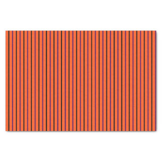 Orange with Black & Purple Stripes Tissue Paper