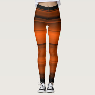 Orange with black shades / stripes leggings