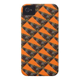 Orange with brown designs Case-Mate iPhone 4 case