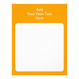 Orange with white area and text. customized letterhead