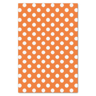 Orange With White Polka Dot Tissue Paper