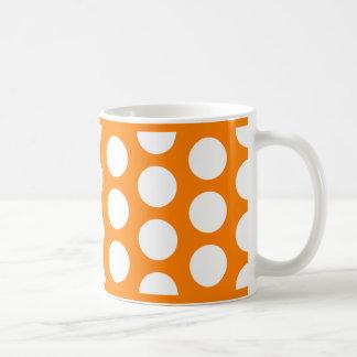 Orange with White Polka Dots Coffee Mug