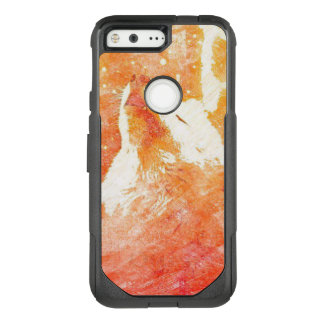 Orange Wolf Google Pixel Otterbox Case