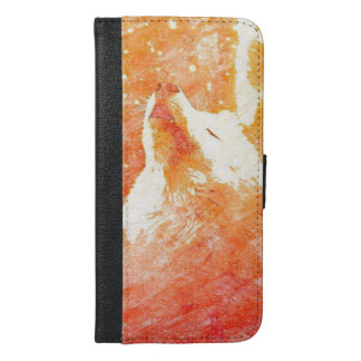 Orange Wolf iPhone 6/6s Plus Wallet Case