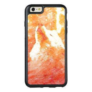 Orange Wolf iPhone 6 Plus Otterbox Case