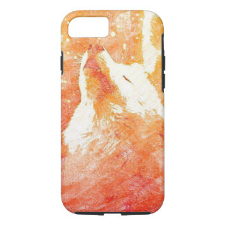 Orange Wolf iPhone 8/7 Phone Case