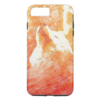 Orange Wolf iPhone 8 Plus/7 Plus Phone Case