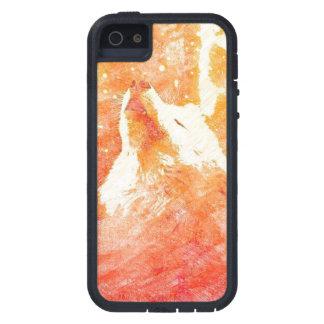 Orange Wolf iPhone SE/5/5s Phone Case