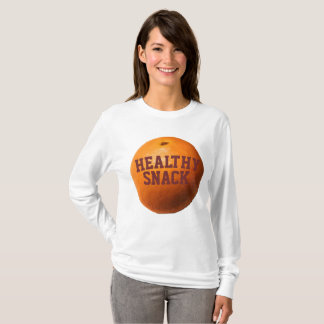 Orange women's long sleeve t-shirt