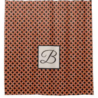 Orange Woven Rattan on Custom Color with Monogram