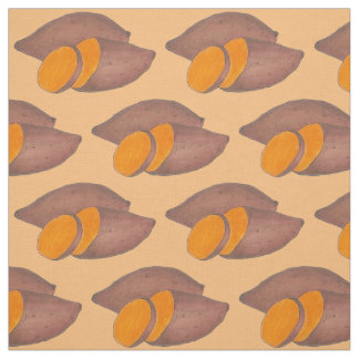Orange Yam Sweet Potato Potatoes Foodie Fabric