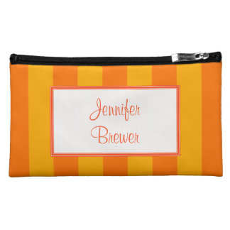 Orange & Yellow Accessory, Coin or Makeup Bag Cosmetics Bags