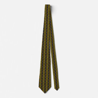 Orange Yellow and Black Abstract Tribal Pattern Tie