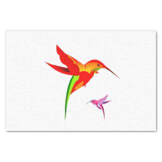 Orange Yellow And Green Hummingbird Tissue Paper