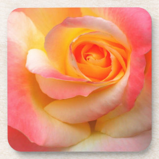 Orange, Yellow, and Pink Rose Multiple Products Beverage Coasters