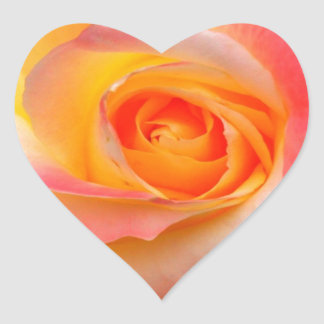Orange, Yellow, and Pink Rose Multiple Products Heart Sticker