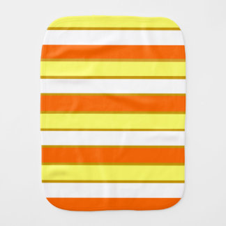 Orange, Yellow and White Stripes Burp Cloth