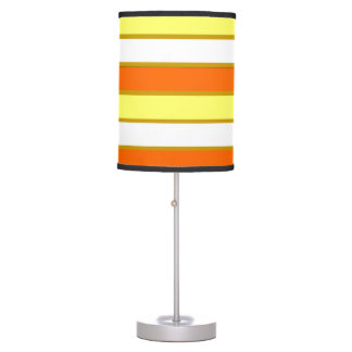 Orange, Yellow and White Stripes Table Lamp