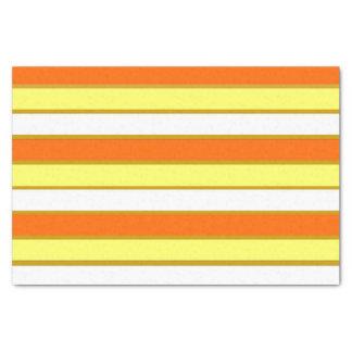 Orange, Yellow and White Stripes Tissue Paper