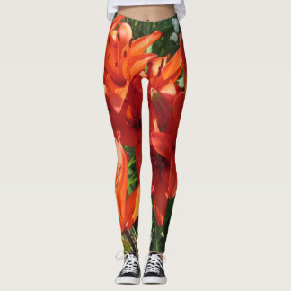 Orange Yellow Asiatic Lilies Leggings