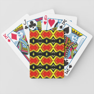 Orange Yellow Black Fall Tribal Pattern Bicycle Playing Cards