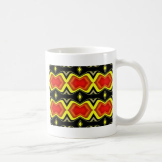 Orange Yellow Black Fall Tribal Pattern Coffee Mug