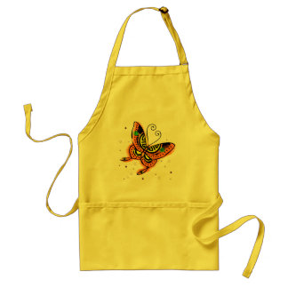 Orange & Yellow Butterfly Standard Apron