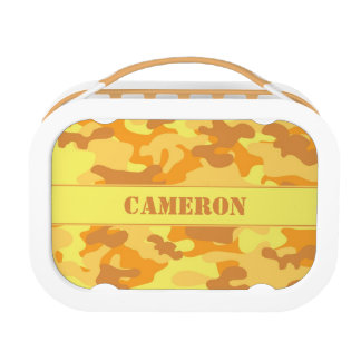 Orange Yellow Camouflage (Camo) | Personalized Lunch Box