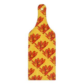 Orange yellow clivia photomontage pattern (paddle) cutting boards