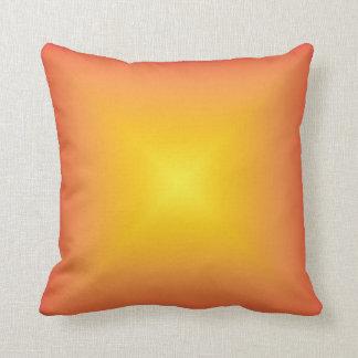 Orange yellow color harmony throw pillow