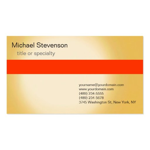 Orange Yellow Consultant Business Card