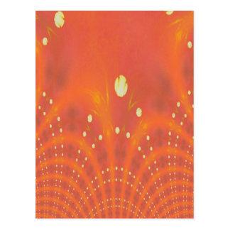 Orange Yellow Fantasy Worlds Creation Postcard