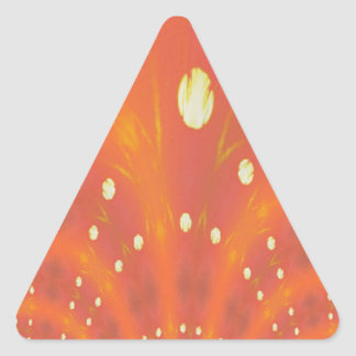 Orange Yellow Fantasy Worlds Creation Triangle Sticker