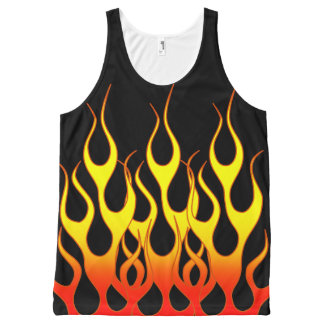 Orange Yellow Flame Graphics All-Over-Print Tank Top