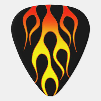 Orange Yellow Flame Graphics Guitar Pick