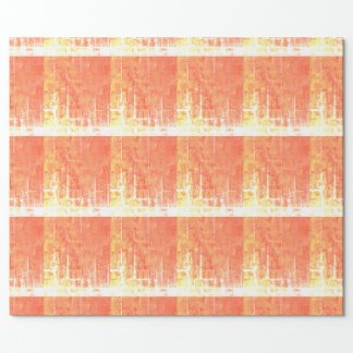 Orange, yellow, gold grid wrappingpaper. geometric