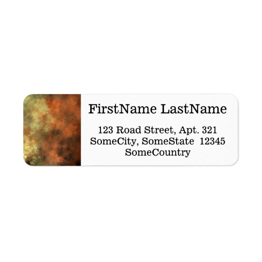 Orange, Yellow & Grey Mist-Like Pattern Return Address Label